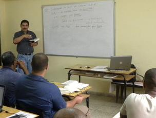 Arthur teaching in Cuba