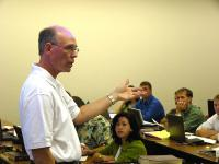 Charles Speer teaching class