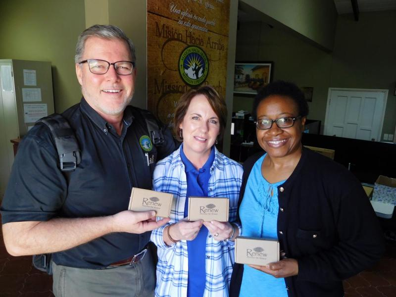 Phil and Donna Waldron and Chanetta Williams for Mission Upreach