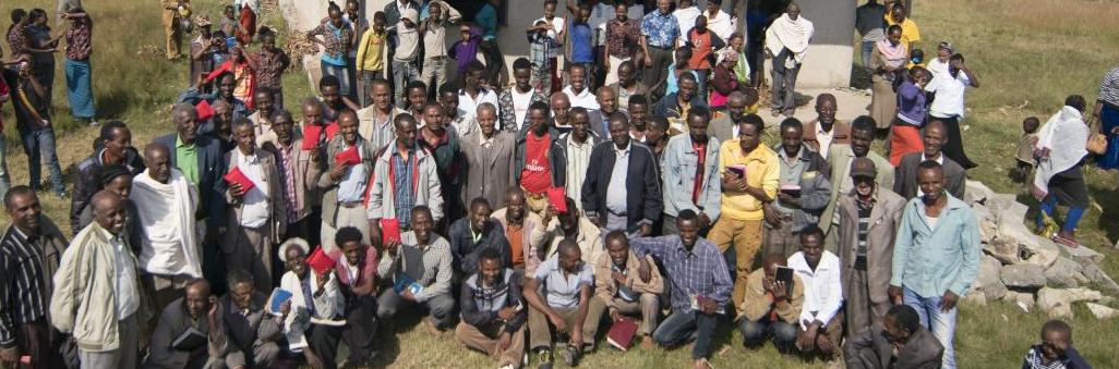 A church in Ethiopia after receiving the solar players